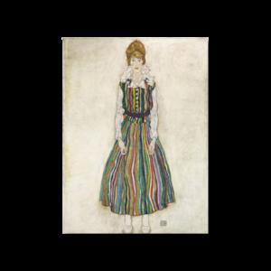 그림화환 결혼식화환 축하화환 줄무늬옷을입은에디트실레의초상 에곤쉴레