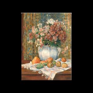 그림화환 결혼식화환 축하화환 배와꽃이있는정물무도회 르누와르